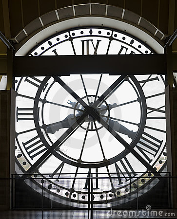 Musee D'orsay Clock Stock Photography.
