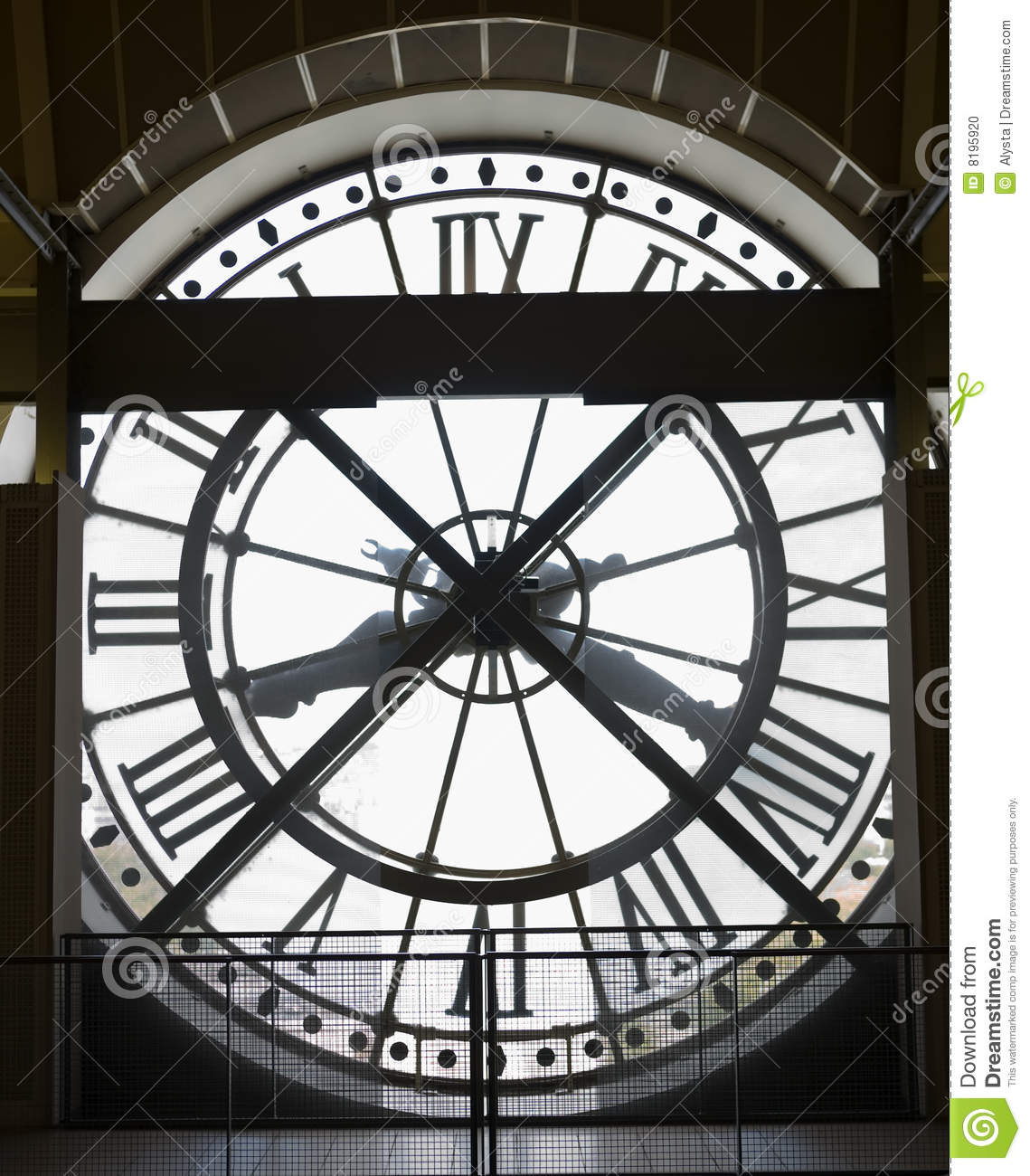 Musee D'Orsay Museum Clock Stock Photo.