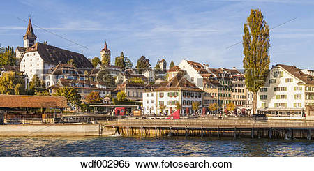 "Stock Image of ""Switzerland, Canton of Lucerne, Lucerne, Old town."