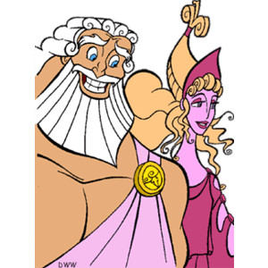 Hercules Gods and Muses Clip Art.
