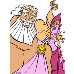 Hercules Gods and Muses Clip Art.