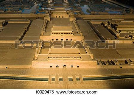 Stock Image of China, Beijing, urbanism museum, city model.