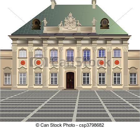 Vector Illustration of Pod Blacha Palace.