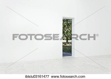 "Picture of ""View through a doorway in a wall, pavilion, Hombroich."