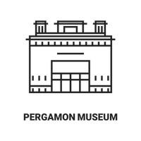 Museum island Vector Image.
