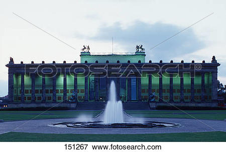 Picture of Fountain in front of museum, Altes Museum, Lustgarten.