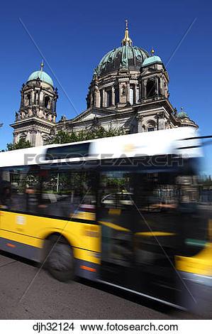 Stock Photo of Germany, Berlin, Museum Island, Spree River, Berlin.