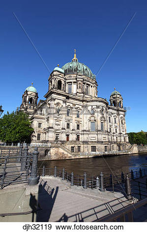 Stock Photograph of Germany, Berlin, Museum Island, Spree River.