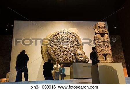 Stock Images of The Aztec Stone of the Sun. The National Museum of.