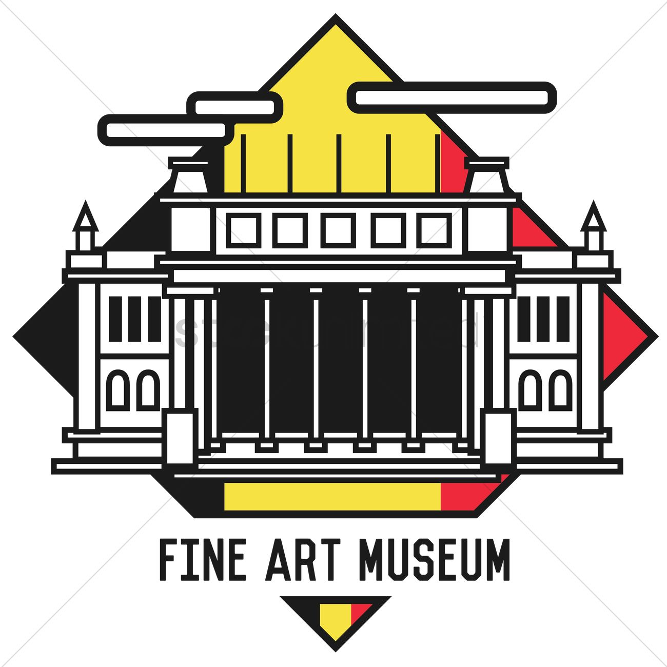 Fine art museum Vector Image.