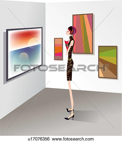 Stock Illustration of art museum, culture, fine art, fine arts.