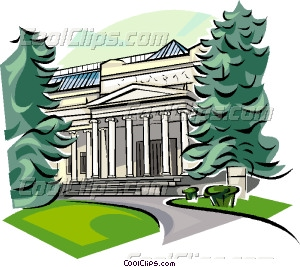 Russia Pushkin Museum of Fine Arts Vector Clip art.
