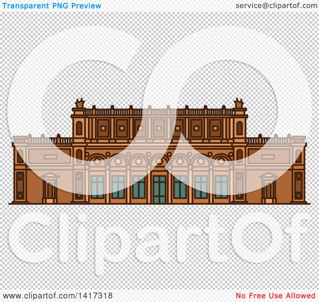 Clipart of a German Landmark, Kunsthalle Museum.