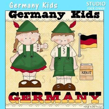 Germany Kids Color Clip Art C. Seslar.