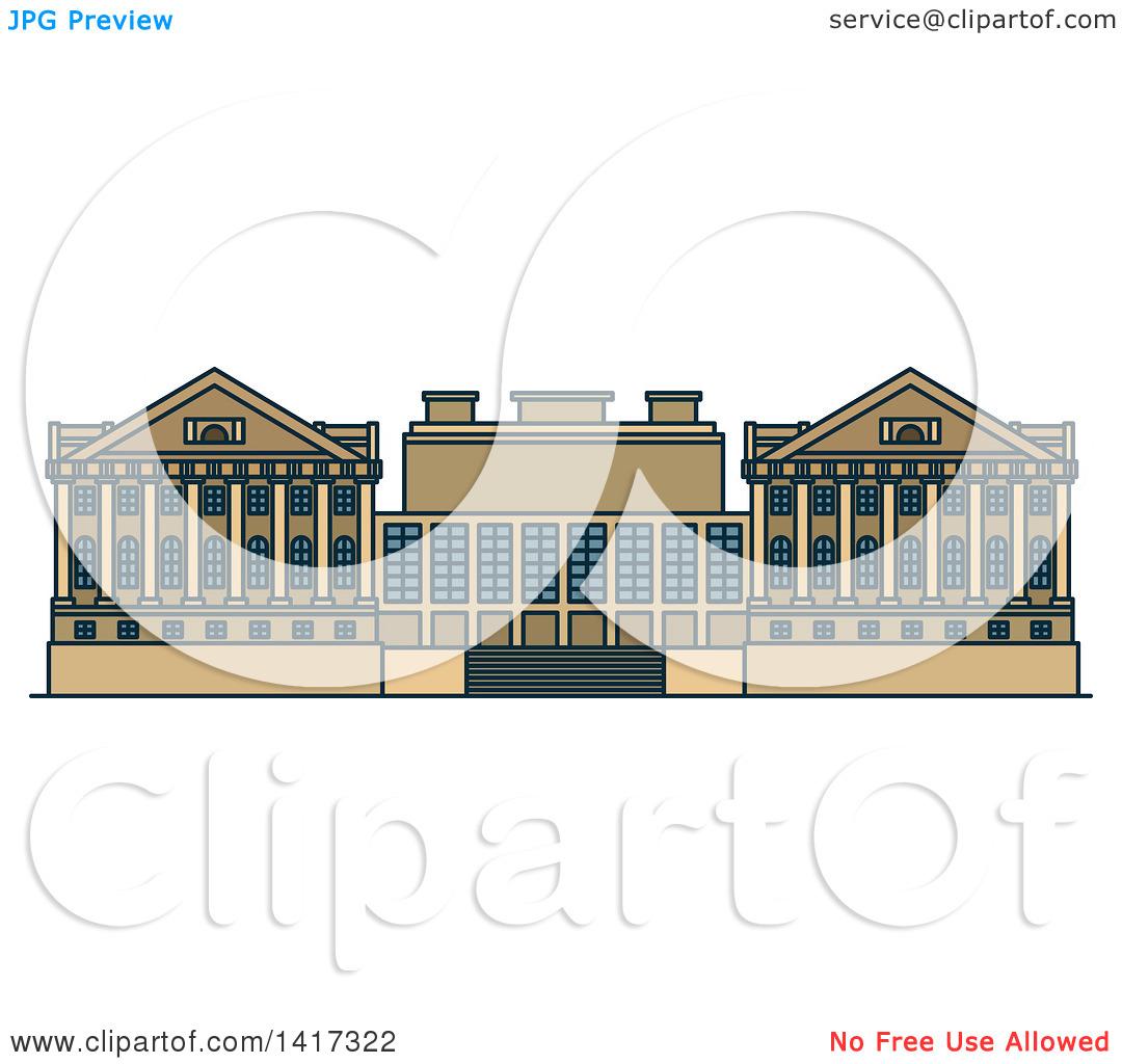 Clipart of a German Landmark, Pergamon Museum.