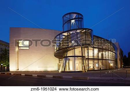 Stock Photo of German Historical Museum by architect I. M. Pei in.