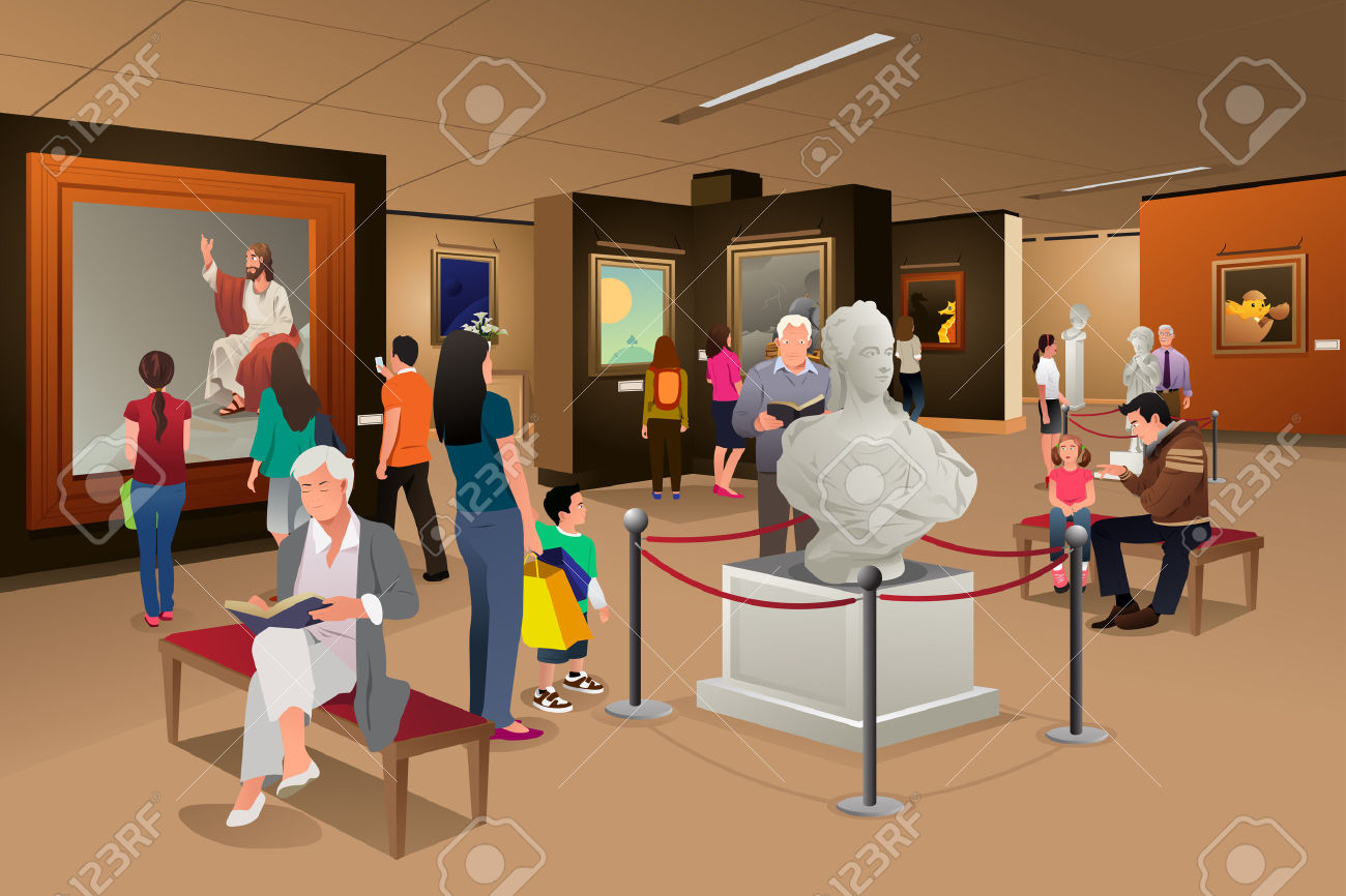 Mordern art museume clipart.
