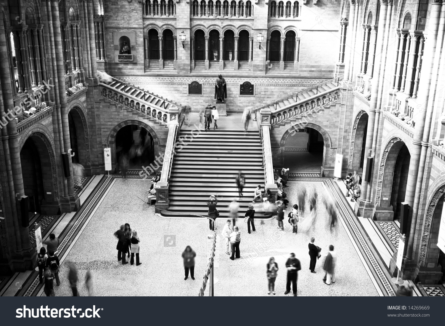 Natural History Museum In Black And White. Stock Photo 14269669.