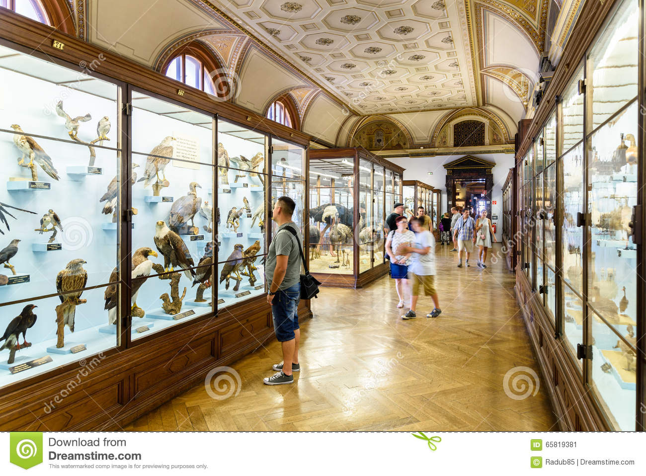 People Visit The Museum Of Natural History In Vienna Editorial.