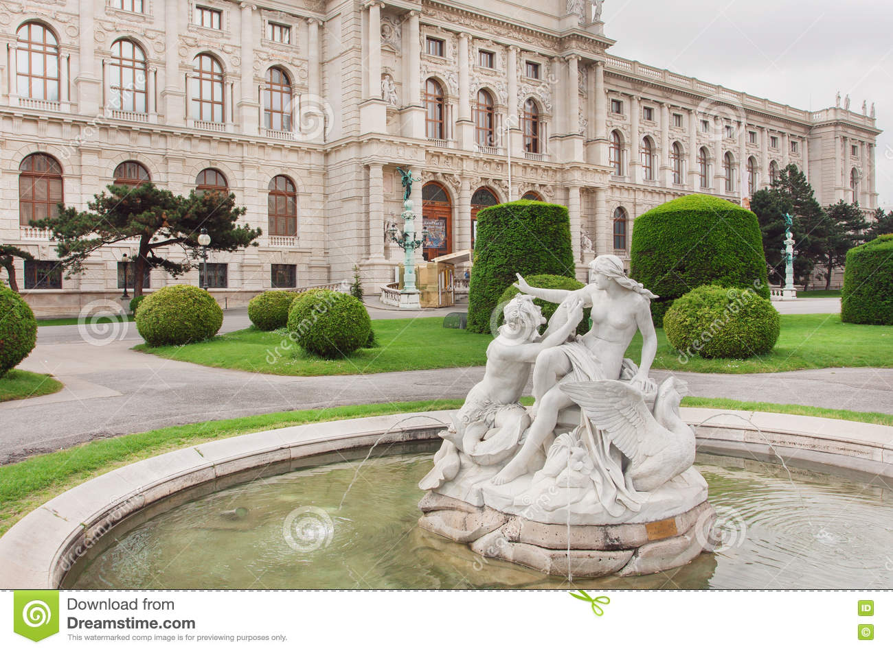 Famous Museum Of Natural History In Vienna And Green Park With.