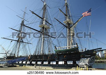 Stock Photography of Boston, MA, Massachusetts, Charlestown Navy.