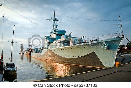 Stock Photos of Destroyer Ship.