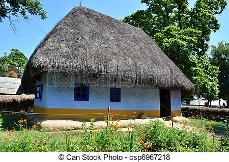 Pictures of Old rural house in Romania, Village Museum in.