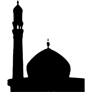 Masjid Silhouette clip art.