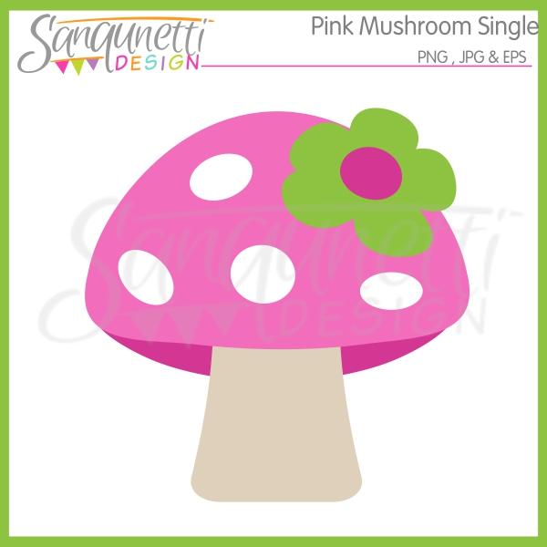 Sanqunetti Design: pink mushroom clipart.