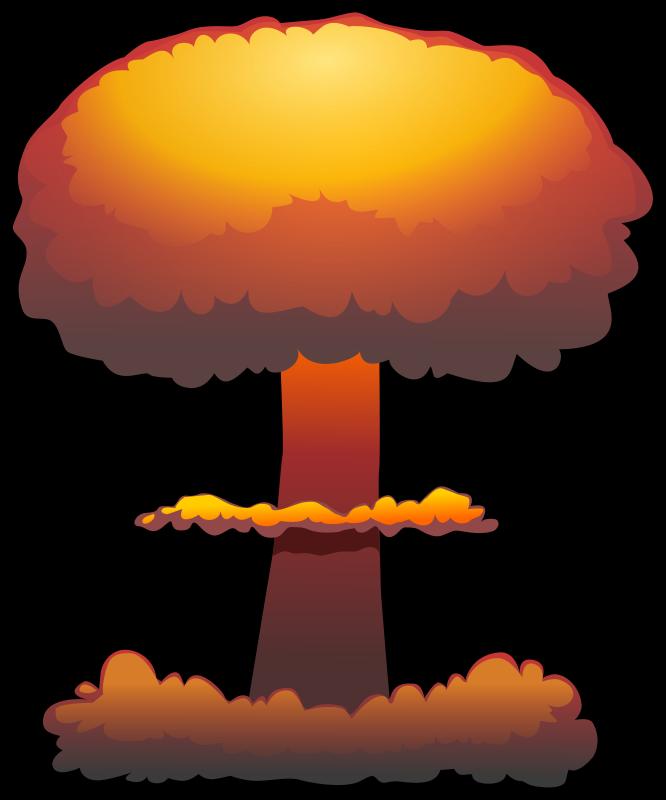 Mushroom Cloud Clipart.