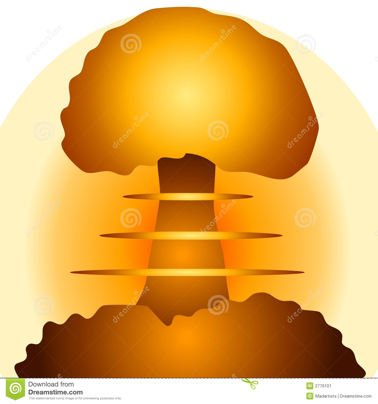Mushroom cloud clipart no backround.