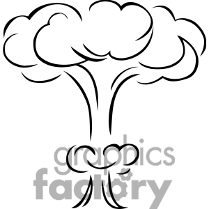 Mushroom cloud clip art.