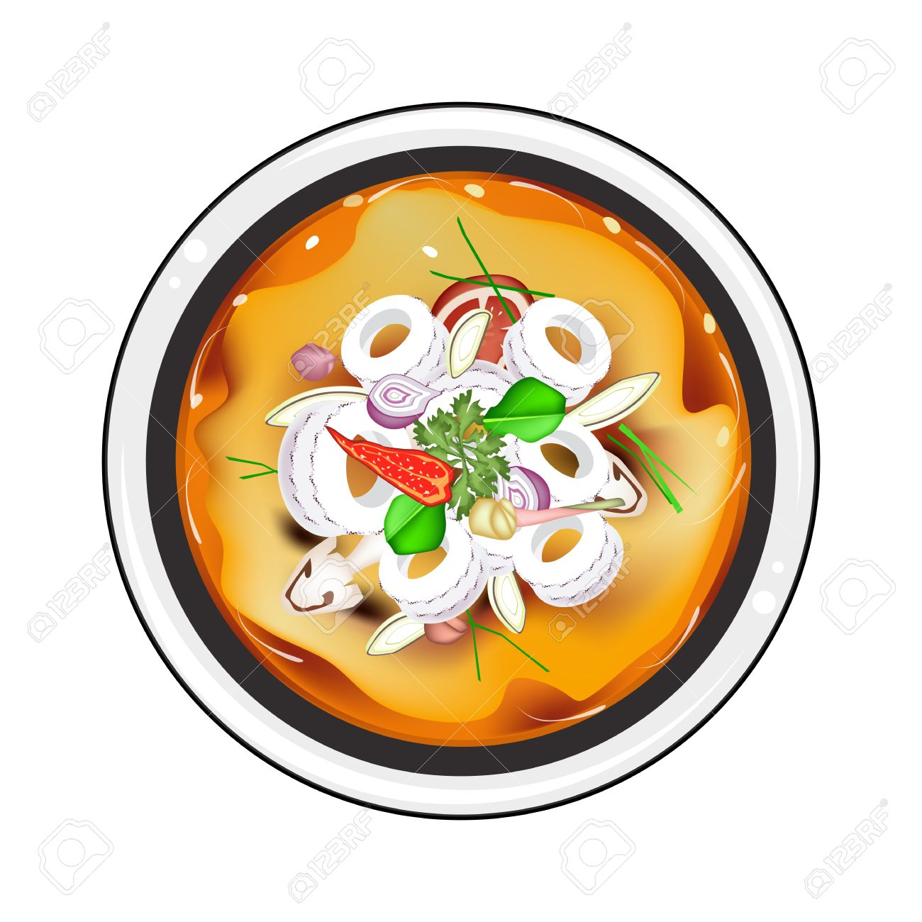 Thai Cuisine, Tom Yum Or Traditional Thai Spicy And Sour Soup.
