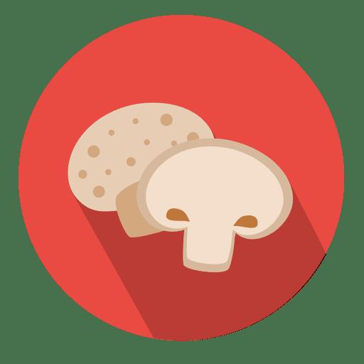 Mushroom circle icon.