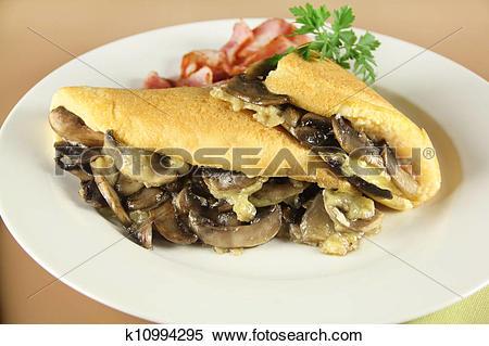 Stock Image of Mushroom Omelette k10994295.
