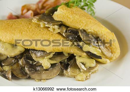 Stock Photo of Mushroom Omelette k13066992.