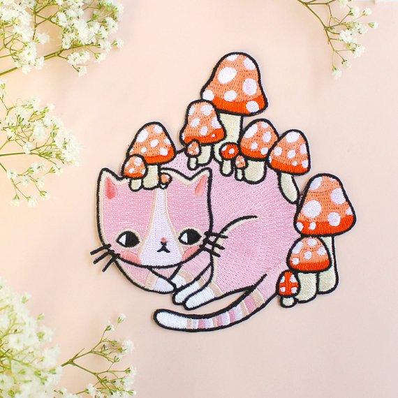 Mushroom Kitty' Patch.