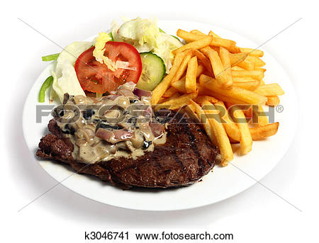 Stock Photography of Steak and mushroom sauce k3046741.