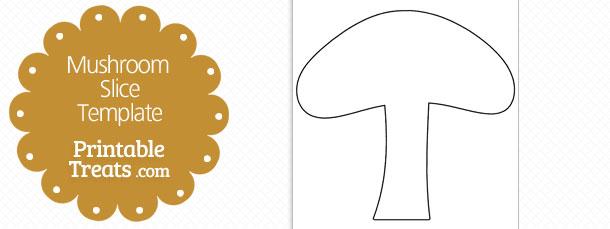 Printable Mushroom Slice Shape Template — Printable Treats.com.