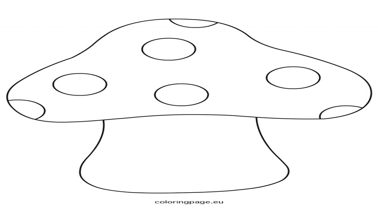 Winter Shape Coloring, mushroom shape template coloring page.