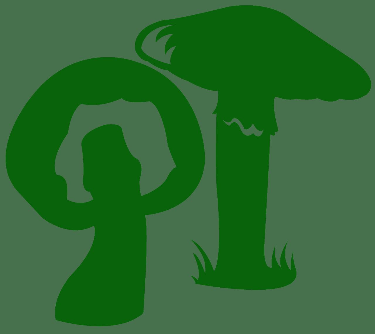 Mushroom silhouette.