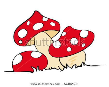 Funny Mushrooms Stock Photos, Royalty.