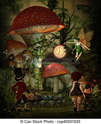 Drawings of Mushroom Time, 3d CG.