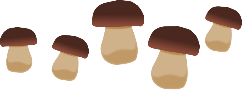 Clip art mushrooms.