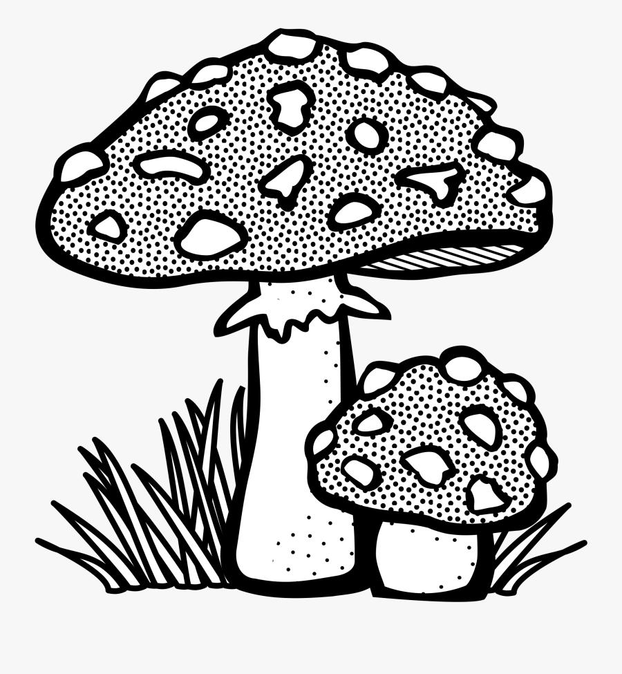 Mushroom Clipart Black And White.