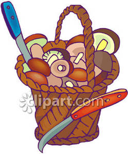 Basket_Mushrooms_Royalty_Free_Clipart_Picture_081221.