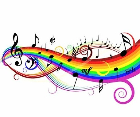 Colorful Music Background Clipart Picture Free Download.
