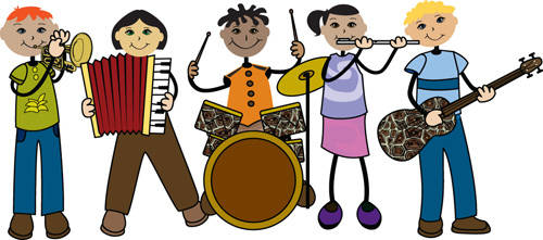 Music Band Instruments Clipart.
