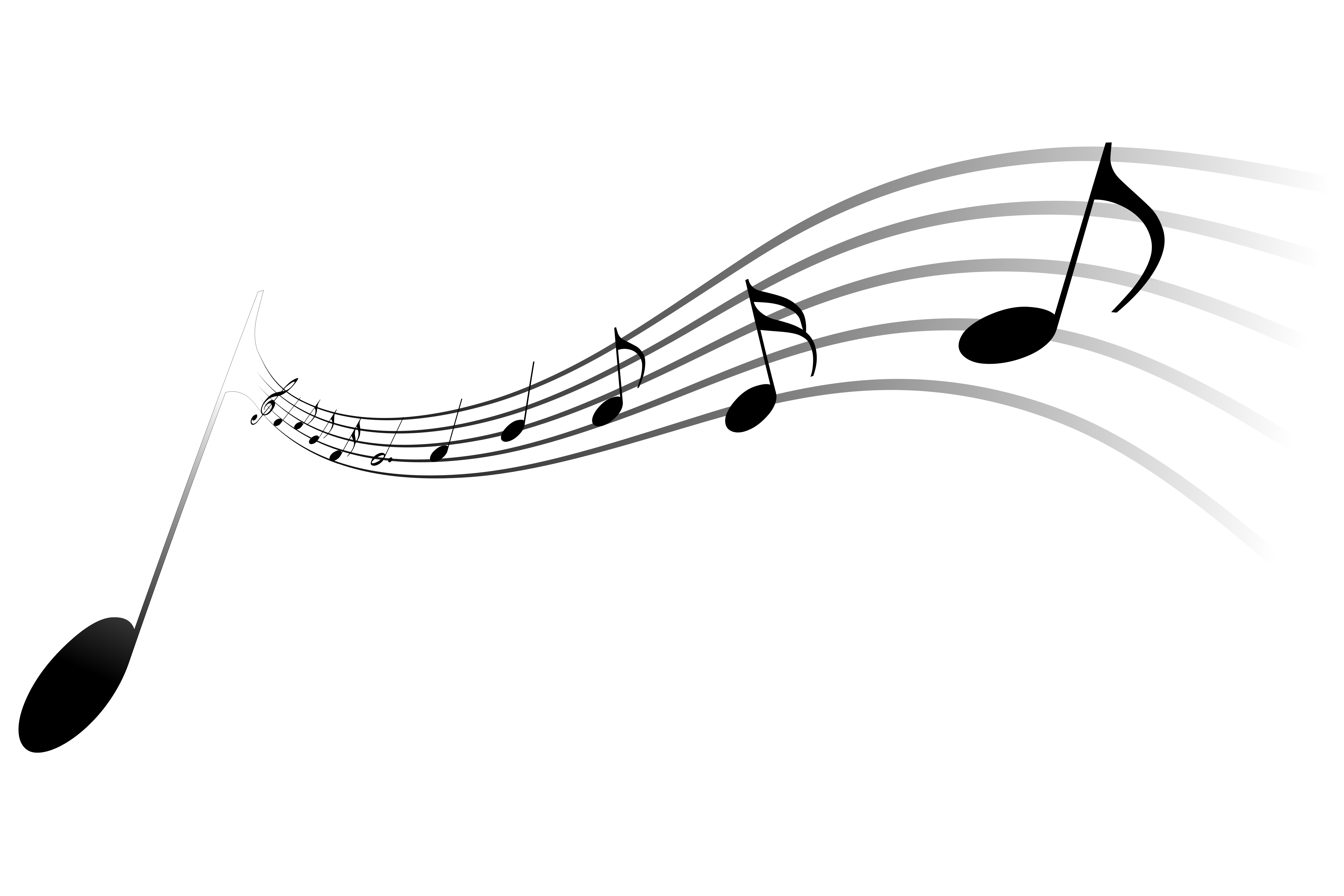 Music Note Bar Clipart.