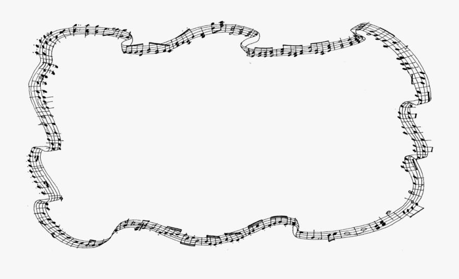 Transparent Music Border Clipart.
